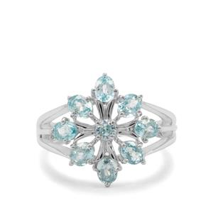 2.57ct Blue Zircon Sterling Silver Ring