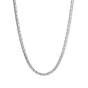 """16"""" Sterling Silver Dettaglio Diamond Cut Spiga Chain 8.40g"""