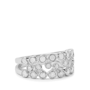 Diamond Stacker Ring in Sterling Silver 0.79ct