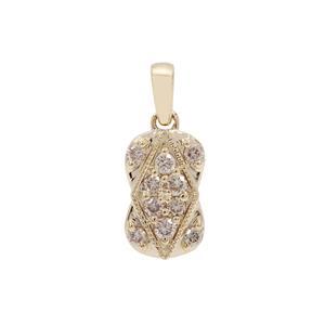 Champagne Argyle Diamond Pendant in 9K Gold 0.26ct