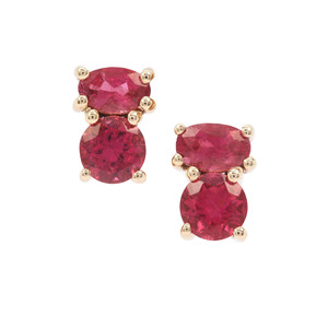 Safira Tourmaline Earrings in 9K Gold 1cts