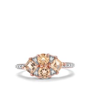 Ouro Preto Imperial Topaz & Diamond 10K Rose Gold Ring ATGW 1.31cts