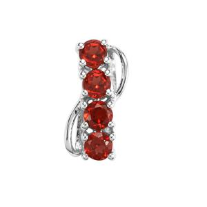 Nampula Garnet Pendant in Sterling Silver 1.10cts