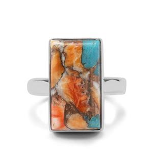 Oyster Turquoise Ring in Sterling Silver 11cts