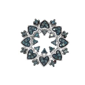 1/2ct Blue Diamond Sterling Silver Pendant