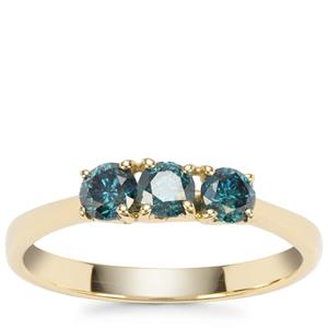 Blue Diamond Ring in 9K Gold 0.56ct