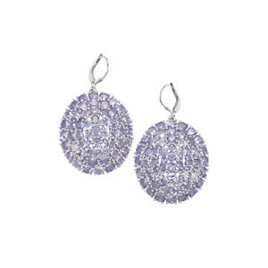 17.44ct Tanzanite Sterling Silver Earrings