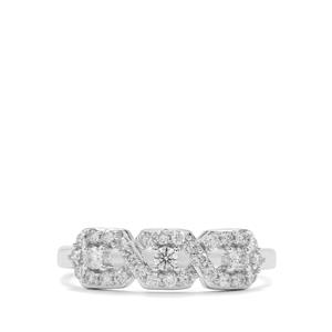 Argyle Diamond Ring in 10K White Gold 0.34ct