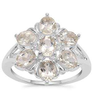 Serenite Ring with White Zircon in Sterling Silver 2.43cts