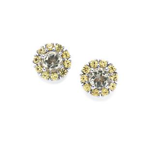Serenite & Yellow Sapphire Sterling Silver Earrings ATGW 0.87cts