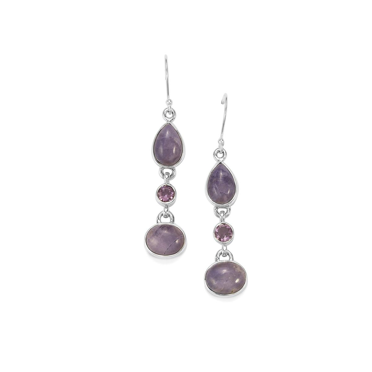 aeb9f2e9c Tiffany Opal Earrings with Bahia Amethyst in Sterling Silver 13cts | IKCS05  | Gemporia