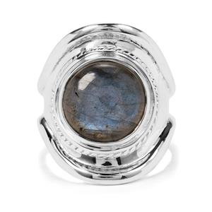 7ct Labradorite Sterling Silver Aryonna Cuff Ring
