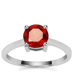Hessonite Garnet Ring in Sterling Silver 1.57cts