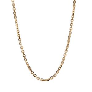 """18"""" Gold Plated Sterling Silver Classico Trace Chain 4.50g"""