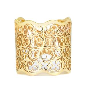 Gold Tone Sterling Silver Bayeux Ring 2.37g