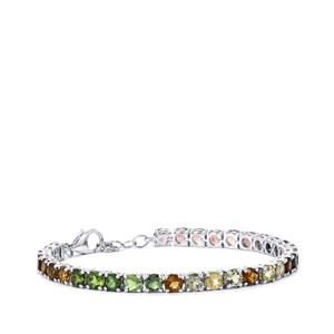 Rainbow Tourmaline Bracelet in Sterling Silver 14.77cts