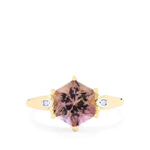 Anahi Ametrine Polaris Ring with Diamond in 10K Gold 2.49cts