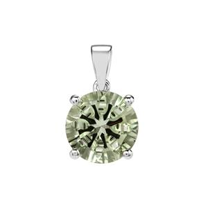 Prasiolite Pendant in Sterling Silver 5.42cts