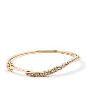 Natural Argyle Diamond Bangle in 9K Gold 1cts