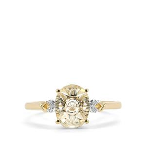 Lehrer QuasarCut Serenite Ring with Diamond in 9K Gold 1.48cts