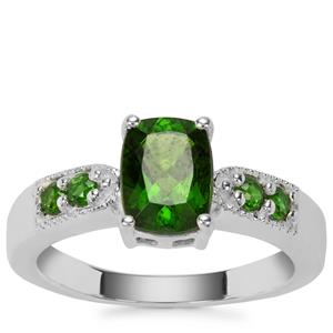 Chrome Diopside Ring in Sterling Silver 1.62cts