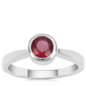 Malagasy Ruby Ring in Sterling Silver 1.26cts