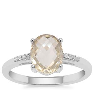 Serenite Ring with White Zircon in Sterling Silver 1.84cts