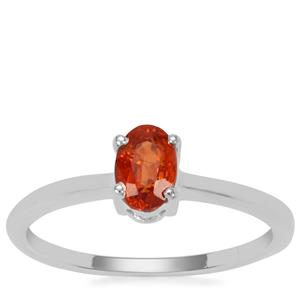 Mandarin Garnet Ring in Sterling Silver 0.75ct