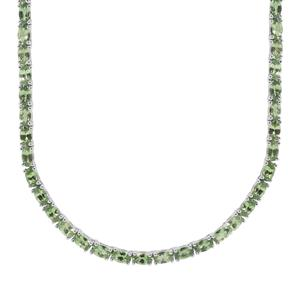 21.25ct Tsavorite Garnet Sterling Silver Necklace