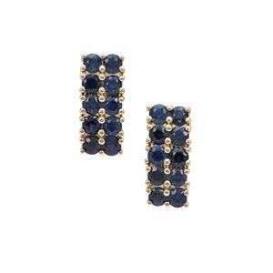 Australian Blue Sapphire Earrings in 9K Gold 1.15cts