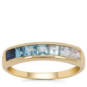 Kaleidoscope Gemstones Ring in 9K Gold 1.40cts