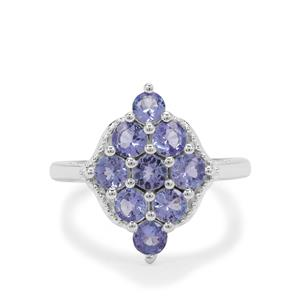 1.65ct Tanzanite Sterling Silver Ring