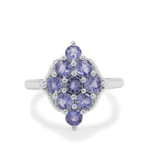 Tanzanite Ring in Sterling Silver 1.65cts