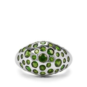 3.72ct Chrome Diopside Sterling Silver Ring