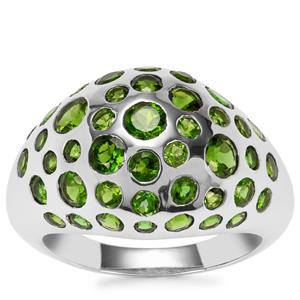 Chrome Diopside Ring in Sterling Silver 3.72cts