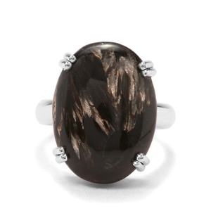 12ct Midnight Seraphinite Sterling Silver Indus Valley Ring