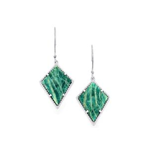 Amazonite Earrings in Sterling Silver 18.47cts