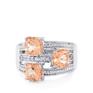 Galileia Topaz Ring with White Topaz in Sterling Silver 3.46cts