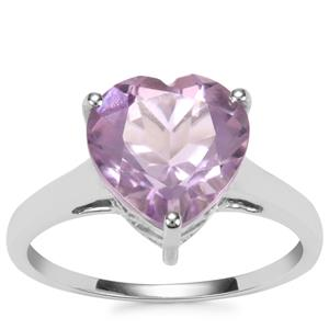 Rose De France Amethyst Ring in Sterling Silver 3.30cts