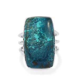 18.00ct Chrysocolla Sterling Silver Aryonna Ring
