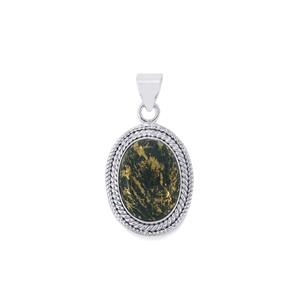17ct Apache Gold Pyrite Sterling Silver Aryonna Pendant