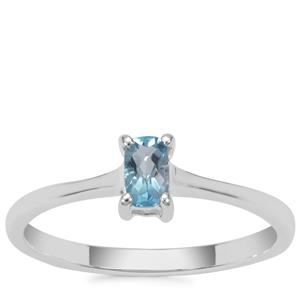 Swiss Blue Topaz Ring in Sterling Silver 0.31ct