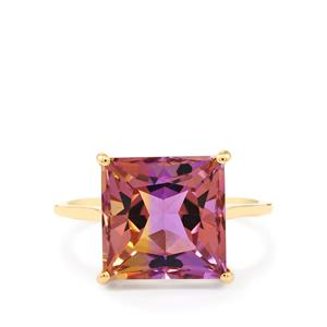 6.10ct Anahi Ametrine 9K Gold Ring