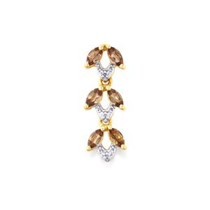 Bekily Color Change Garnet Pendant with White Zircon in 10k Gold 0.96ct