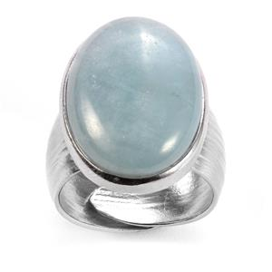 Aquamarine Sarah Bennett Ring in Sterling Silver 14.17cts