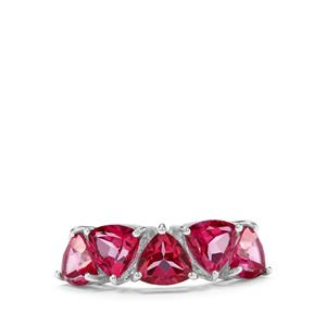 4.46ct Mystic Pink Topaz Sterling Silver Ring