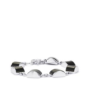 Black Onyx Bracelet in Sterling Silver 51cts