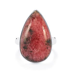 Australian Rhodonite Ring in Sterling Silver 25cts
