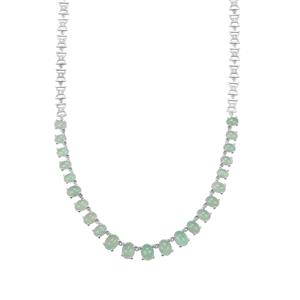 Aquaprase™ Necklace with White Zircon in Sterling Silver 18.15cts