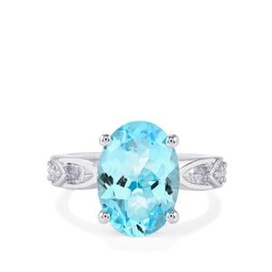 Sky Blue Topaz Ring in Sterling Silver 6.58cts